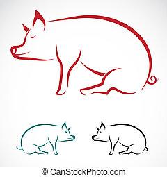 Imagen vectora de un cerdo