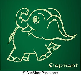 Imagen vectora de un elefante