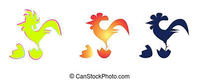 Imagen vectora de un gallo