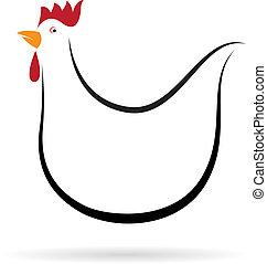 Imagen vectora de un pollo