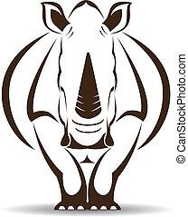 Imagen vectora de un rinoceronte