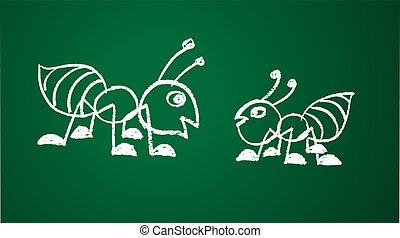 Imagen vectora de una hormiga