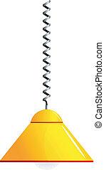 Imagen vectora de una lámpara amarilla