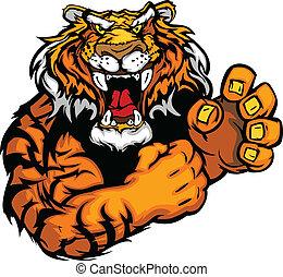 Imagen vectora de una mascota tigresa