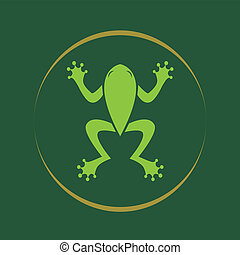Imagen vectora de una rana.