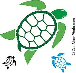 Imagen vectora de una tortuga