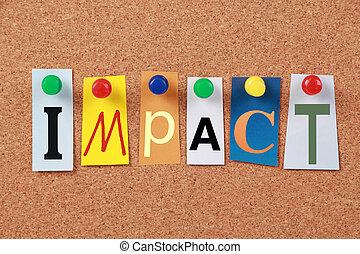 impacto, sola palabra