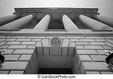 imponente, edificio, washington dc, gobierno