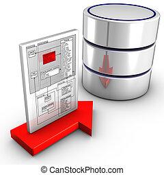 importar, esquema, base de datos