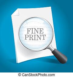 impresión, lectura, multa