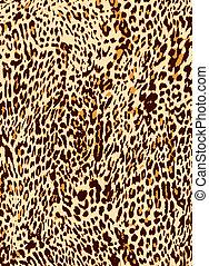 impresión, leopardo, animal, plano de fondo