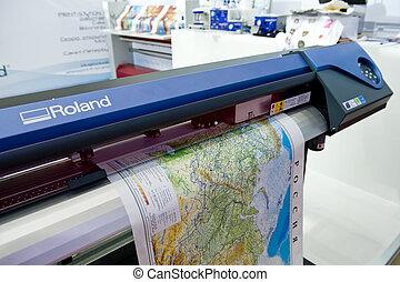 impresión, mapa