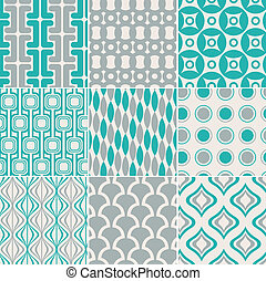 impresión, patrón, seamless, retro