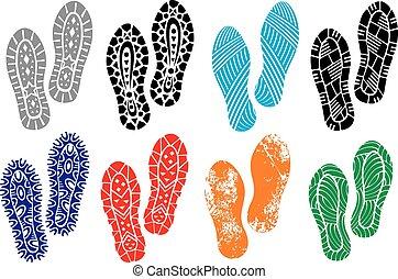 impresión, suelas, shoes, colección