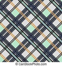 Impresiones textuales de tela tártana, diseño de telaraña, textil casero. Patrón vector sin daños. Eps 10