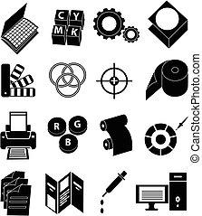Imprime iconos de prensa