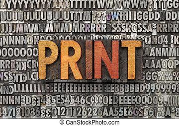 Imprimir palabra en tipo de imprenta