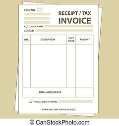 impuesto, factura