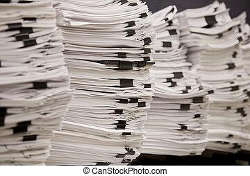 impuesto, pilas, legal, papeles