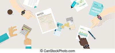 impuestos, amortization, antes, interés, ebitda, depreciación, ganancias