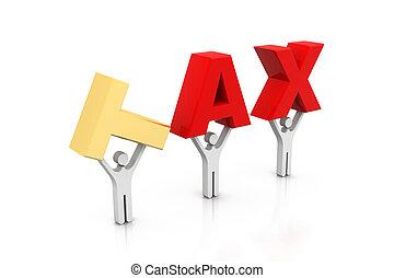 Impuestos mundiales con gente de negocios