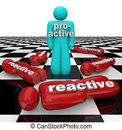 inactividad, persona, gente, gana, reactivo, contra, perder, proactive