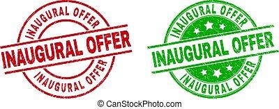 inaugural, corroído, superficie, oferta, redondo, sellos