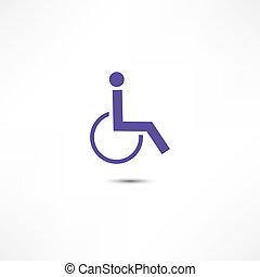 incapacitado, icono