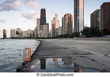 Increíble final del día en Chicago