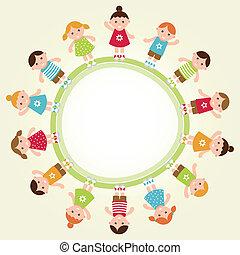 Inculpa a los niños. Ilustración de vectores.