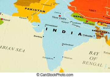 India en el mapa