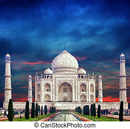 india., mahal, indio, taj, palacio