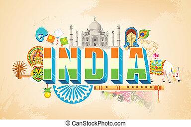 india, plano de fondo