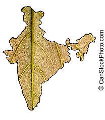 India verde con máscara