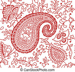 indio, patrón, textil