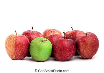 individualidad, manzanas