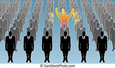 individuo, ilustración, concepto, empresa / negocio
