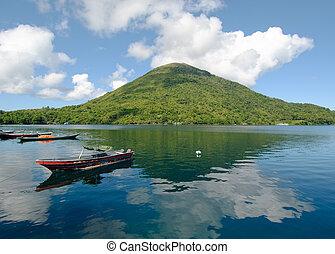indonesia, api, volcán, gunung, banda, islas