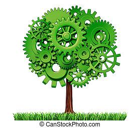 industria, árbol, empresa / negocio, éxito