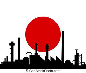 Industria y bandera de Japón