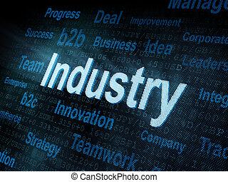 Industrias de la Palabra Pixeled en pantalla digital