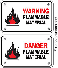 inflamable, material, advertencia