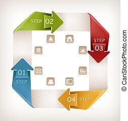 Info gráficos con iconos. Temperatura de diseño. Ilustración del vector