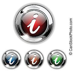 Info icono, botón, vector ilustrado