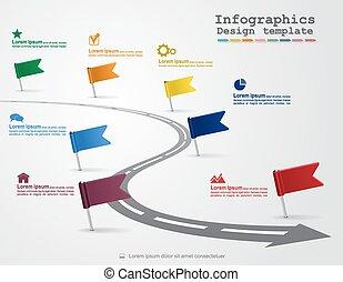 Infográficos con elementos e íconos. Vector
