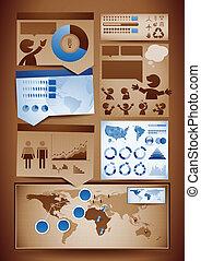 Infografías diseñan elementos
