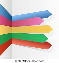 infographic, color, flechas, rayas, vector, template.