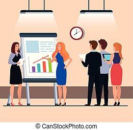 infographics, encontrar personas, presentación, empresa / negocio