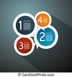 infographics, vector, pasos, progreso, preceptoral