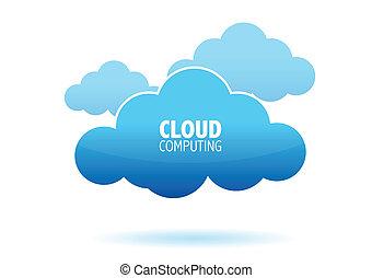 informática, nube, concepto